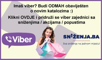 Sniženja.ba - Pratite nas na Viber-u - Sve akcije / katalozi / sniženja na jednom mjestu!!!