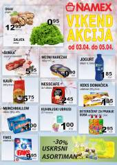 NAMEX VIKEND Akcija do 05.04.2020. godine!