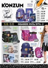KONZUM - Katalog - BACK TO SCHOOL - 15.08.- 15.09.2019.