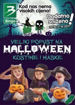 KRALJ DOBRIH CIJENA BINGO - VELIKI POPUST NA HALLOWEEN KOSTIME I MASKE - DODATNO SNIŽENO  do 31.10.2017.