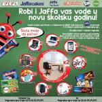 Robi i Jaffa vas vode u novu školsku godinu -  Nagradna igra traje do 25.09.2017. Godine